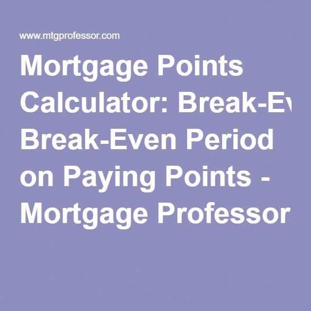 Break-even analysis for mortgage refinance budgeting money.