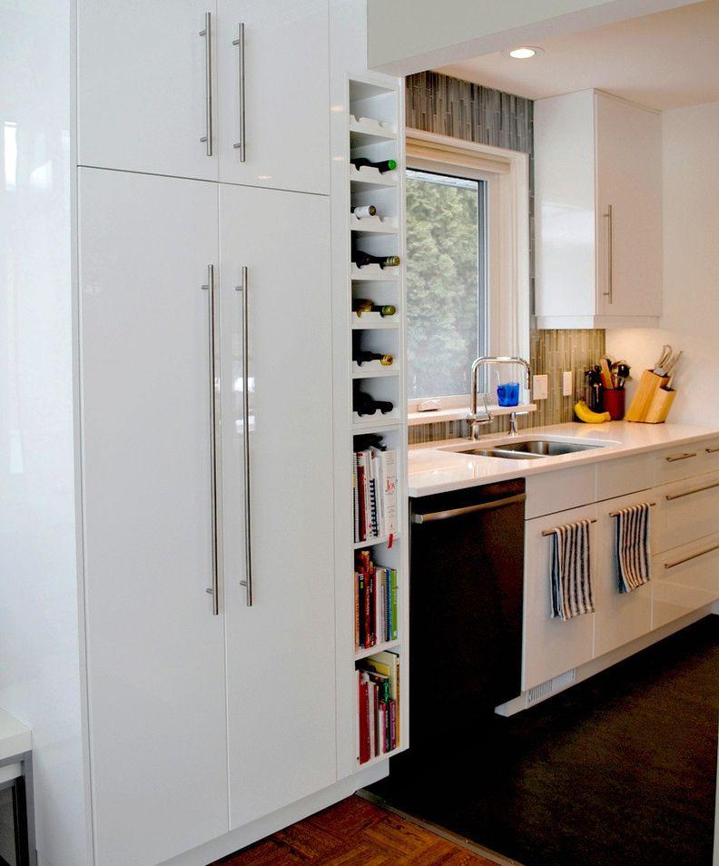 Resultado de imagen de mueble blanco botellero | Cocinas en 2019 ...