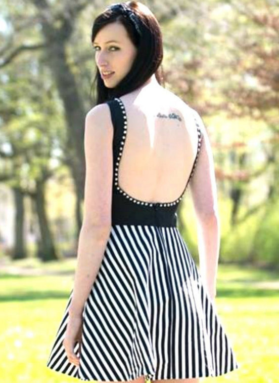 7833bbdba989ac Rückenfreies Kleid mit verschiedenen Rockvarianten - Nähanleitung und  Schnittmuster via Makerist.de