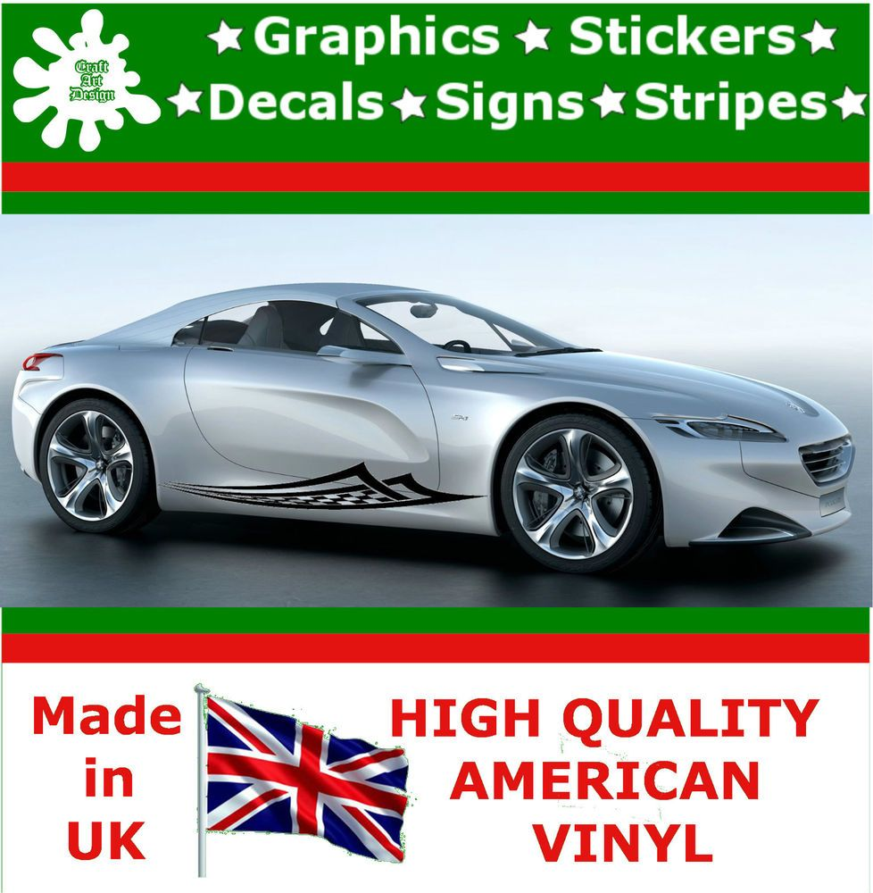 Car side body sticker design - High Car Side Stripes Graphic Decal Vinyl Sticker Van Auto Rally Race In Vehicle Parts Accessories Car Tuning Styling Body Exterior Styling Badges
