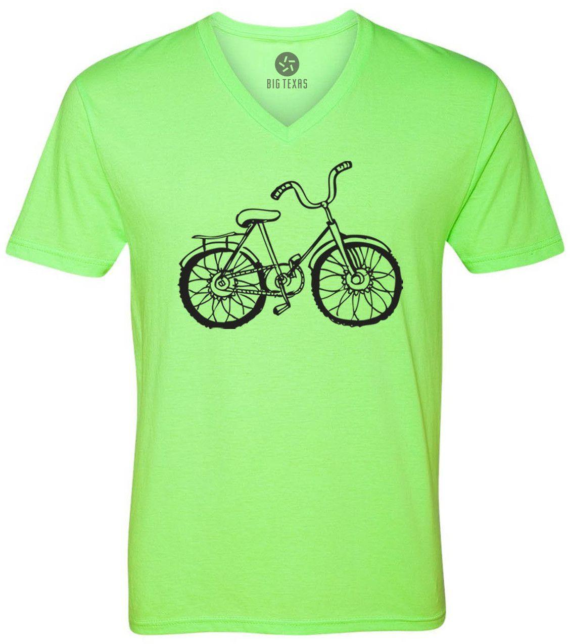 Hand drawn bicycle black shortsleeve vneck tshirt products