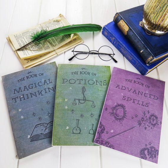 Magische Notebooks - Set drei Zauber, Tränke, magische A5 Bücher ...