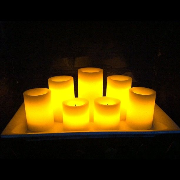 SnapWidget | Love how easy (and pretty) fake candles can be!