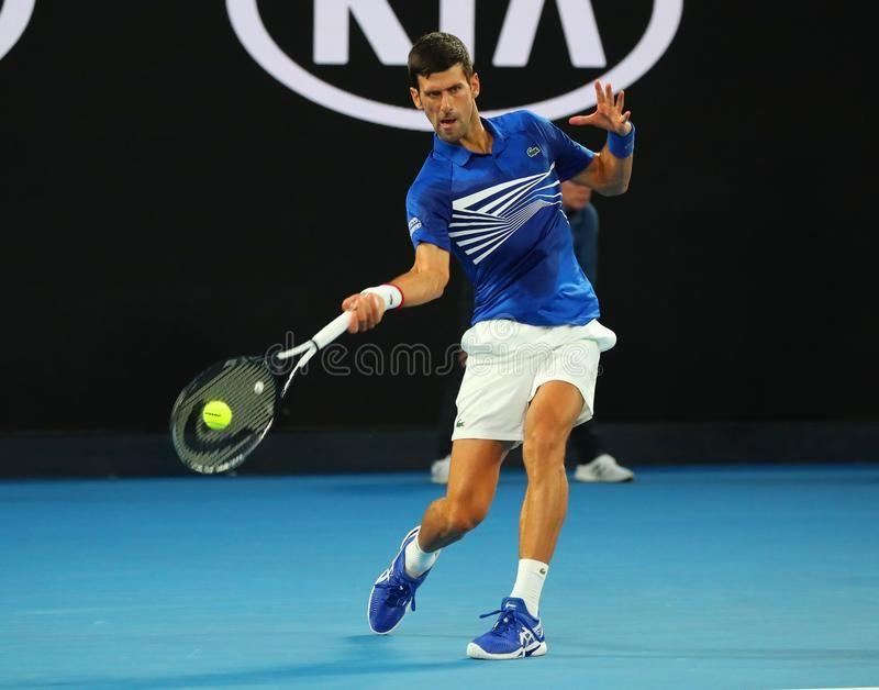 14 Time Grand Slam Champion Novak Djokovic In Action During His Semifinal Match Ad Djokovic Novak Semifinal Actio Novak Djokovic Grand Slam Champion