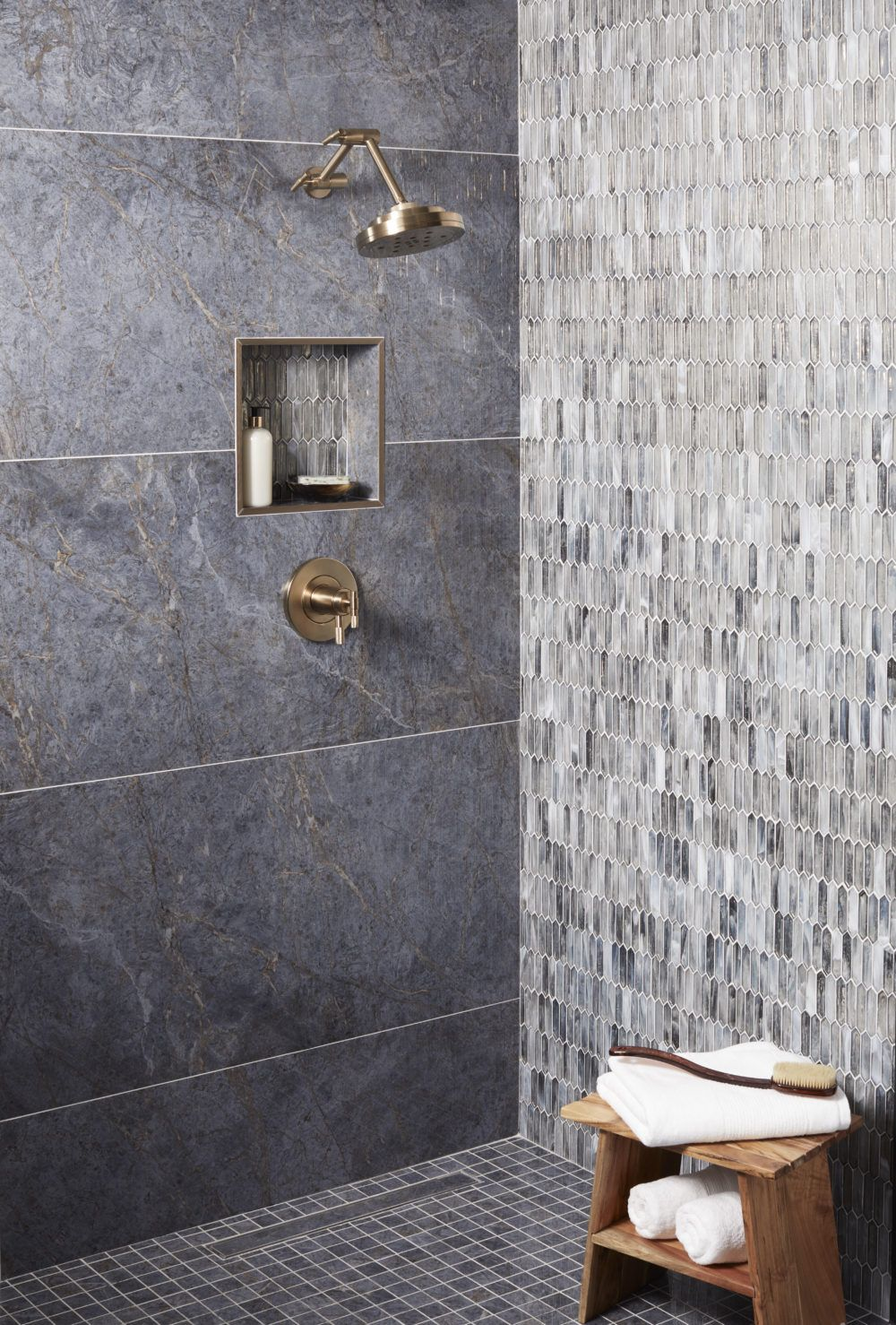 Maximize Your Space With Large Format Tile The Tile Shop Blog Glass Tile Bathroom Tile Bathroom Shower Remodel