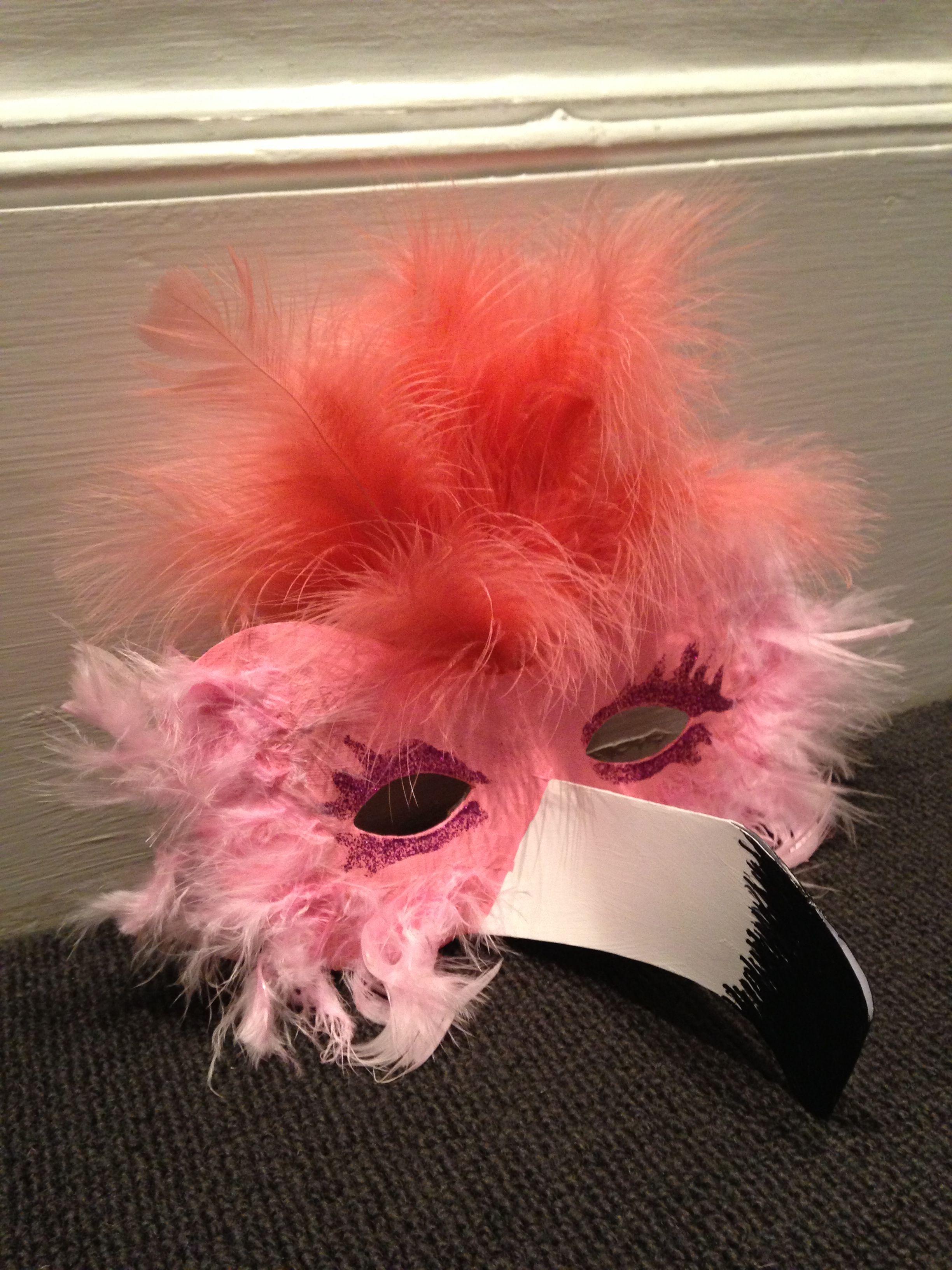 Daisy's flamingo mask | Halloween | Pinterest | Flamingo, Flamingo ...