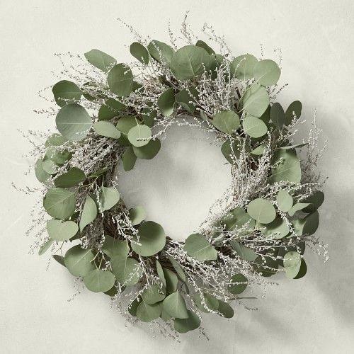 Photo of Garden Party Eucalyptus Wreath, 22″   Williams Sonoma