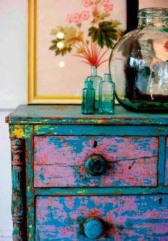 Image Result For Hot Pink Distressed Furniture