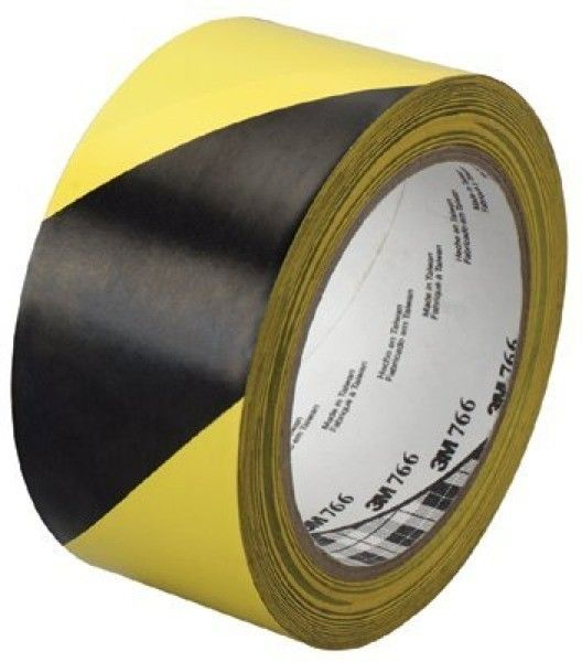 3m Industrial 2 In Hazard Marking Vinyl Tape 766 3m Hazard Warning Tape 766 Black Yellow 2 X36 Yd Produk