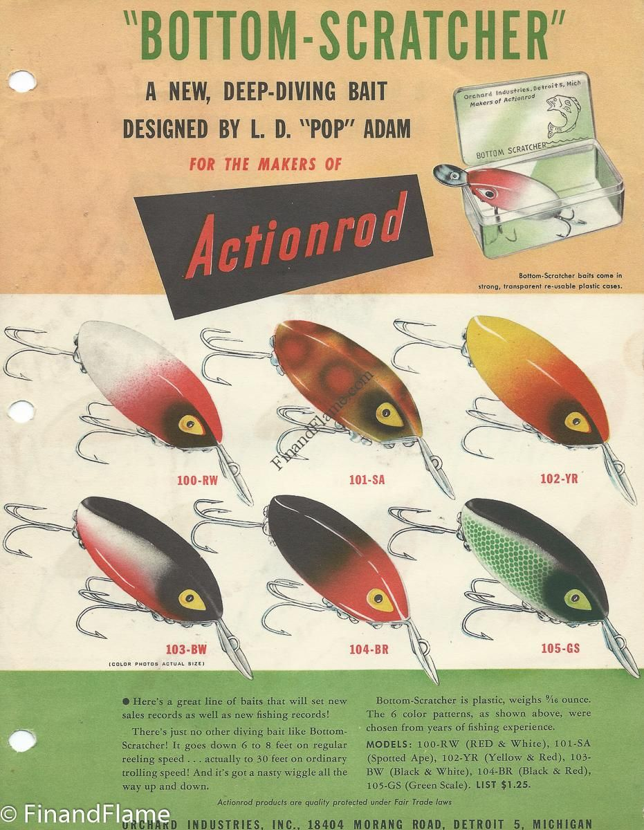 Bottom scratcher lure color chart this bottom scratcher lure color this bottom scratcher lure color chart give us a cool look at the sale sheet for a uniquely named antique fishing lure that came out in nvjuhfo Gallery