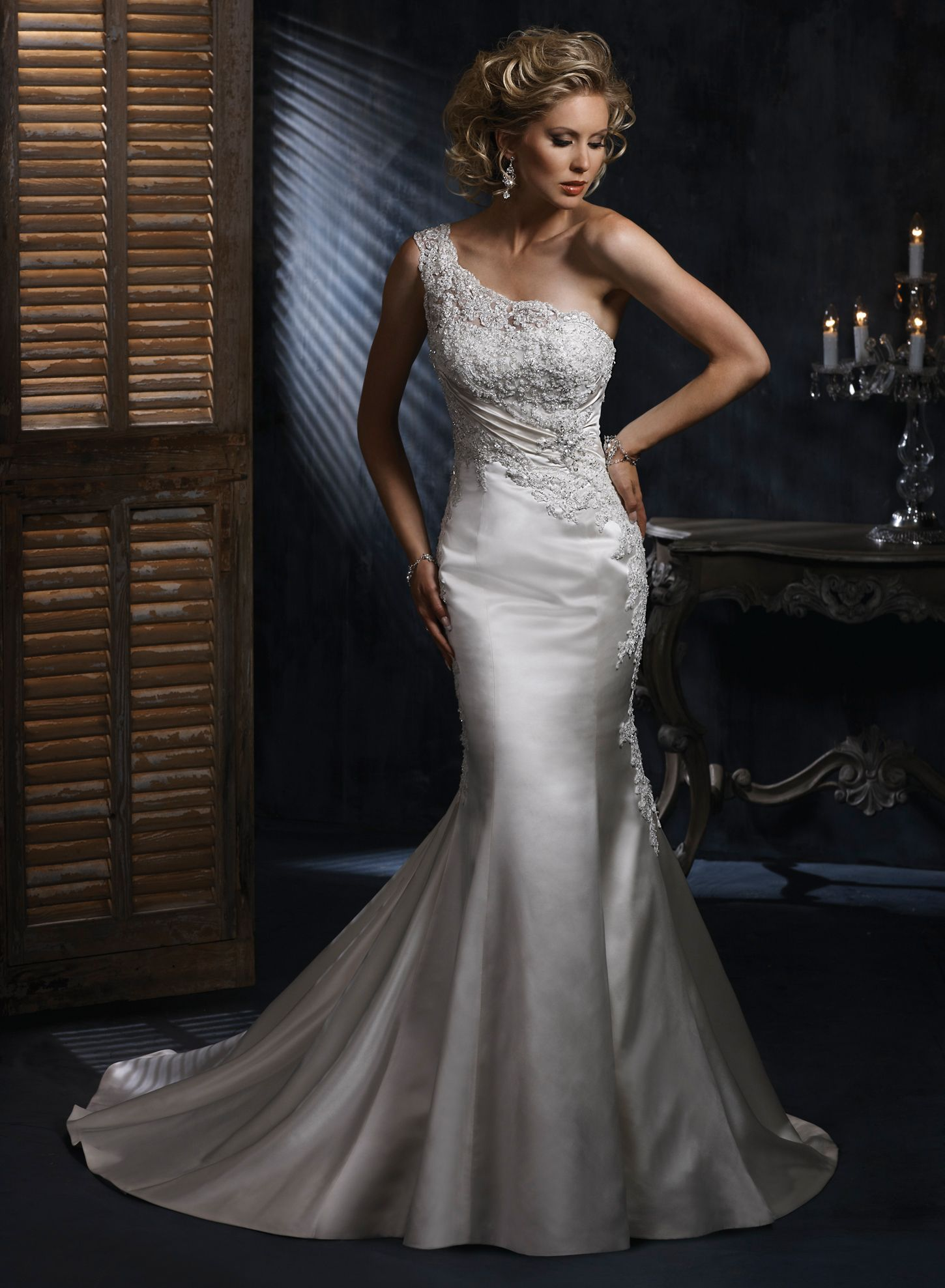 Maggie Sottero One Shoulder Wedding Dress
