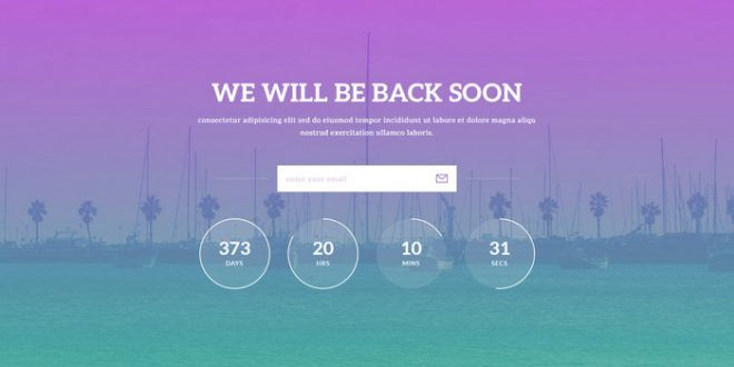 Html5 Css3 Coming Soon Under Construction Website Template