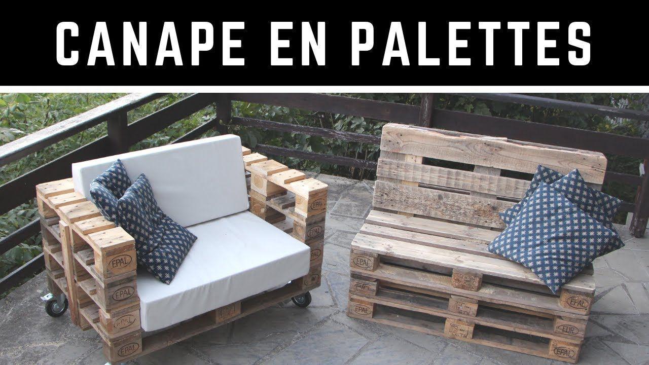 Comment Fabriquer Un Canape En Palette Avec Un Dossier Incline Version Complete Youtube En 2020 Fabriquer Un Canape Canape Palette Construire Un Canape