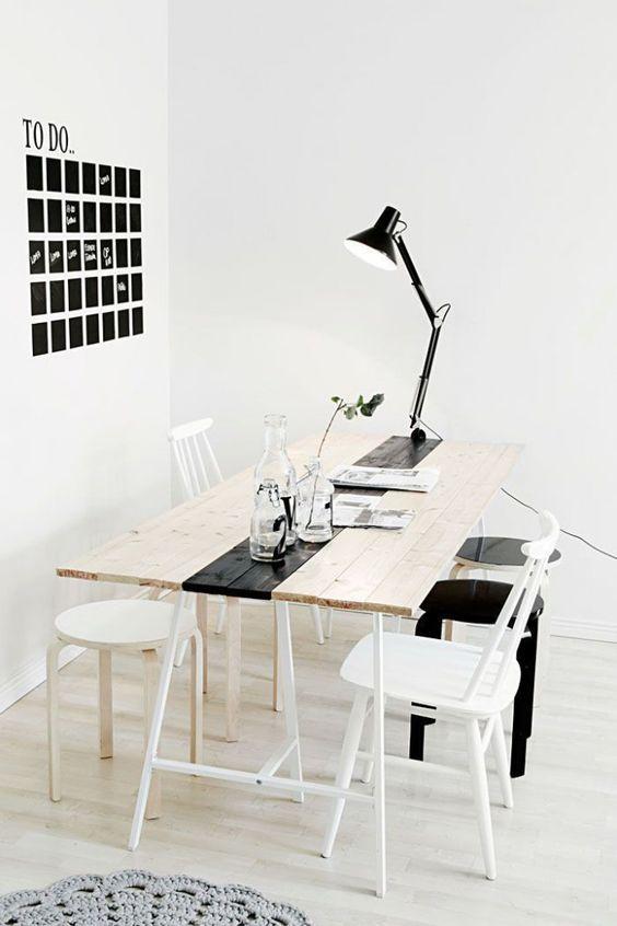 Ikea Tafelblad Met Schragen.Diy Schragen Tafel Naomi Vanity Woonideeen Tafel Ikea