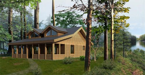 Woody Payson Island Log Cabin Kit Only At Menards House In The Woods Log Homes Cabin Kits