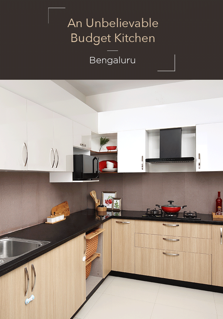 This Bengaluru Kitchen Is Not Just Pretty It S On Budget Too Kitchen Furniture Design Kitchen Room Design L Shaped Kitchen Designs