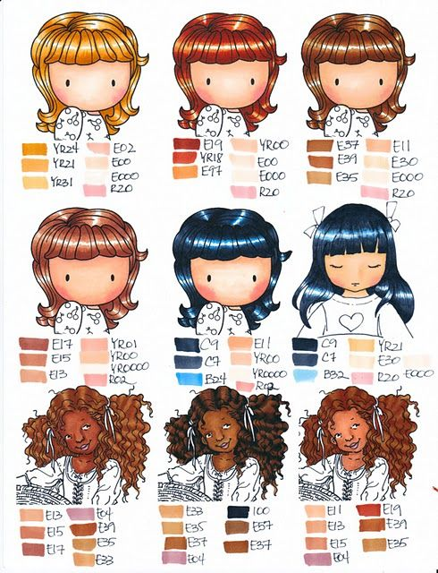 Dana S Inspirations Tutorials And Coloring Charts Prismacolor Copic Coloring Copic Markers