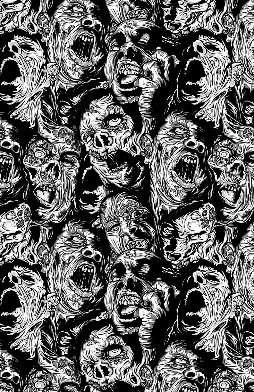 Zombiesssss Arte De Ilustracion Fondos De Halloween Dibujos Espeluznantes