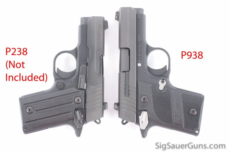 sig p938 - comparison with the p238  938 is a 9mm in a lady
