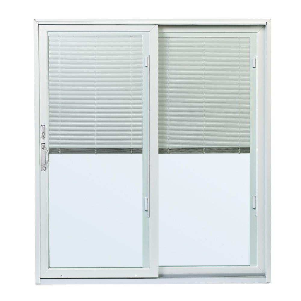 Andersen 70 1 2 In X79 1 2 In 200 Series Right Hand Perma Shield Gliding Patio Door W Built In Blinds And Satin Nickel Hardware Psbbgrsn The Home Depot In 2020 Andersen Sliding Patio Doors Sliding Patio Doors