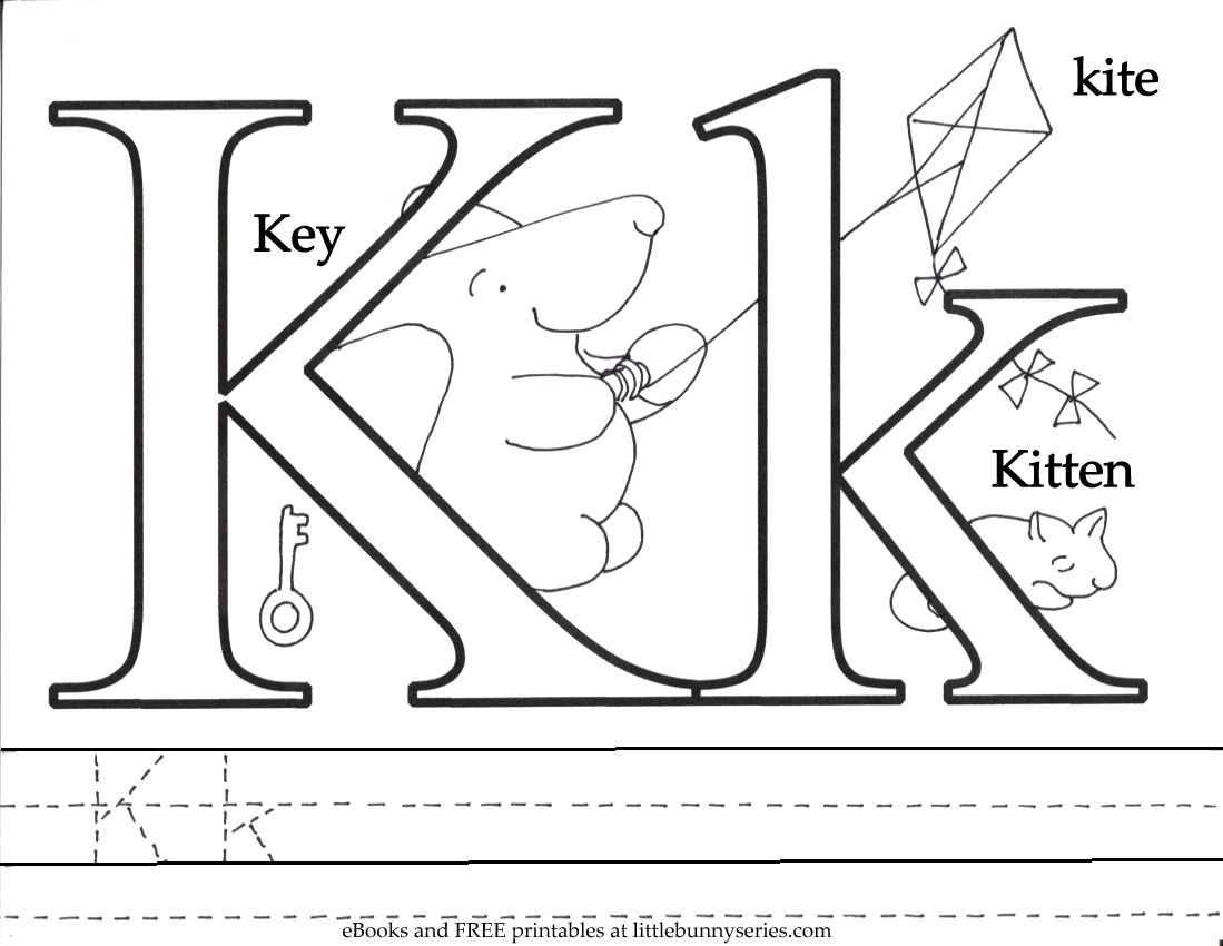 Letter K Coloring Page PDF (With images) Preschool