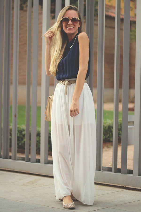White Maxi Skirt Outfit | Jill Dress