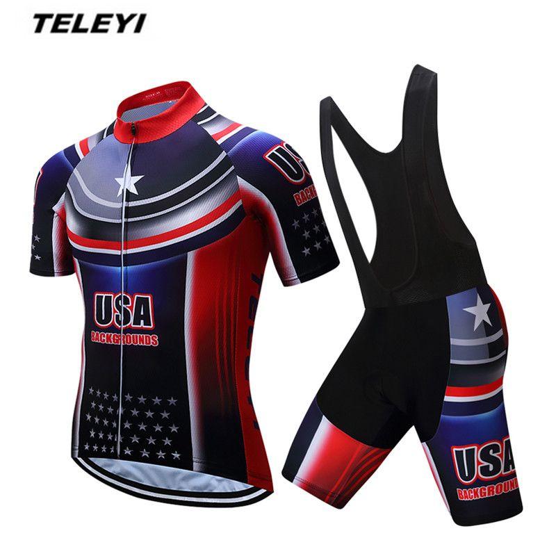 Pro Mens Bike Team Sports Wear Bike Cycling Jersey Shorts Suits Bicycle Gear Set