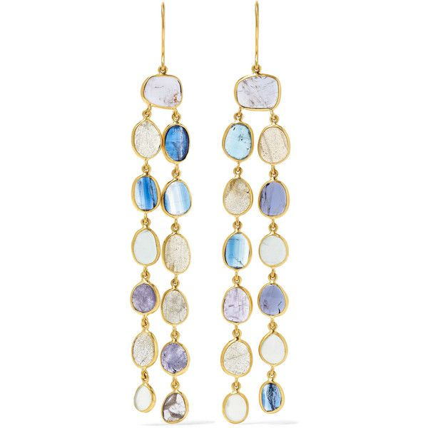 Pippa Small 18-karat Gold Multi-stone Earrings KQkweyXT
