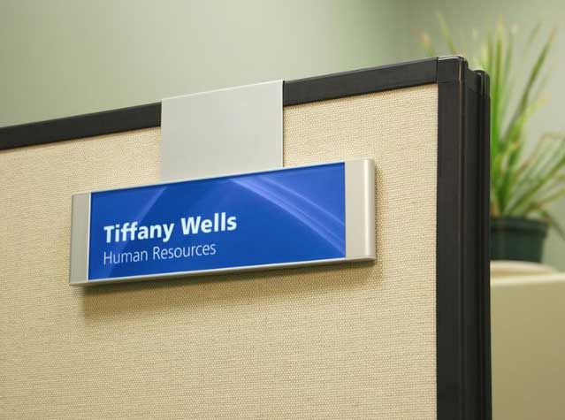 Hanging Cubicle Signs Name