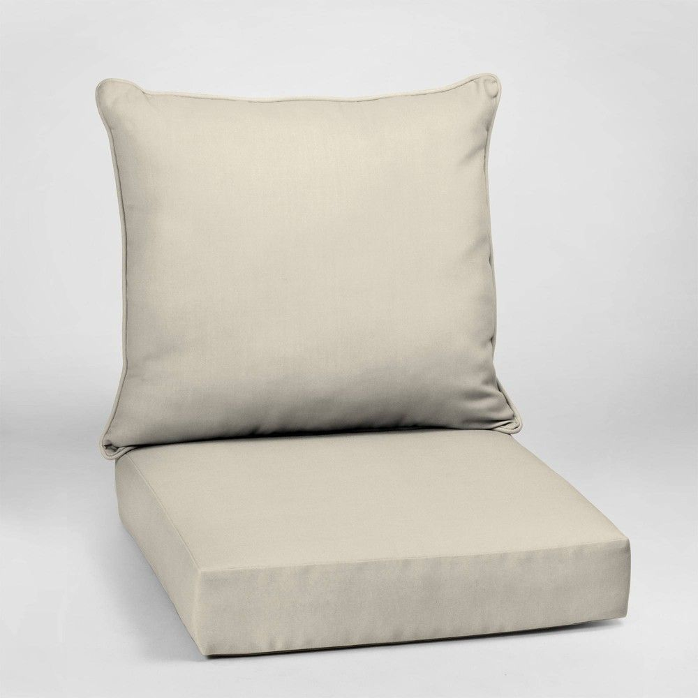 Canvas Texture Acrylic Deep Seat Outdoor Cushion Set Sand Arden Selections In 2020 Deep Seating Outdoor Cushions Outdoor Deep Seat Cushions