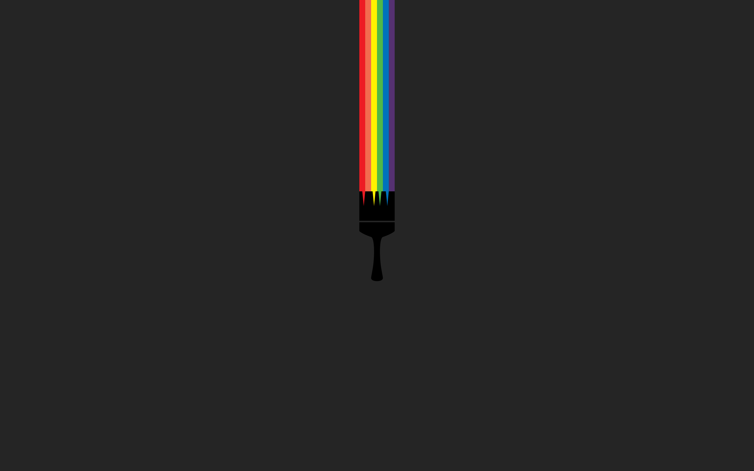 Aesthetic Minimalist Rainbow Wallpaper