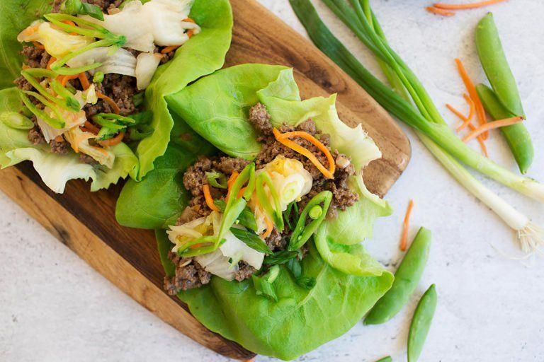 Spicy Korean Bbq Lettuce Wraps Recipe My Kind Of Keto