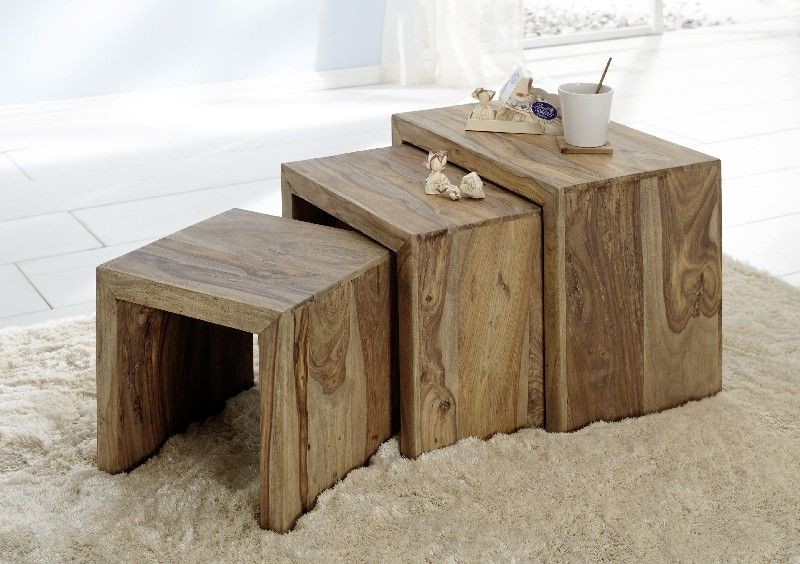 Sheesham Mini Tables Idee Table Basse Table D Appoint Table Basse Gigogne Bois