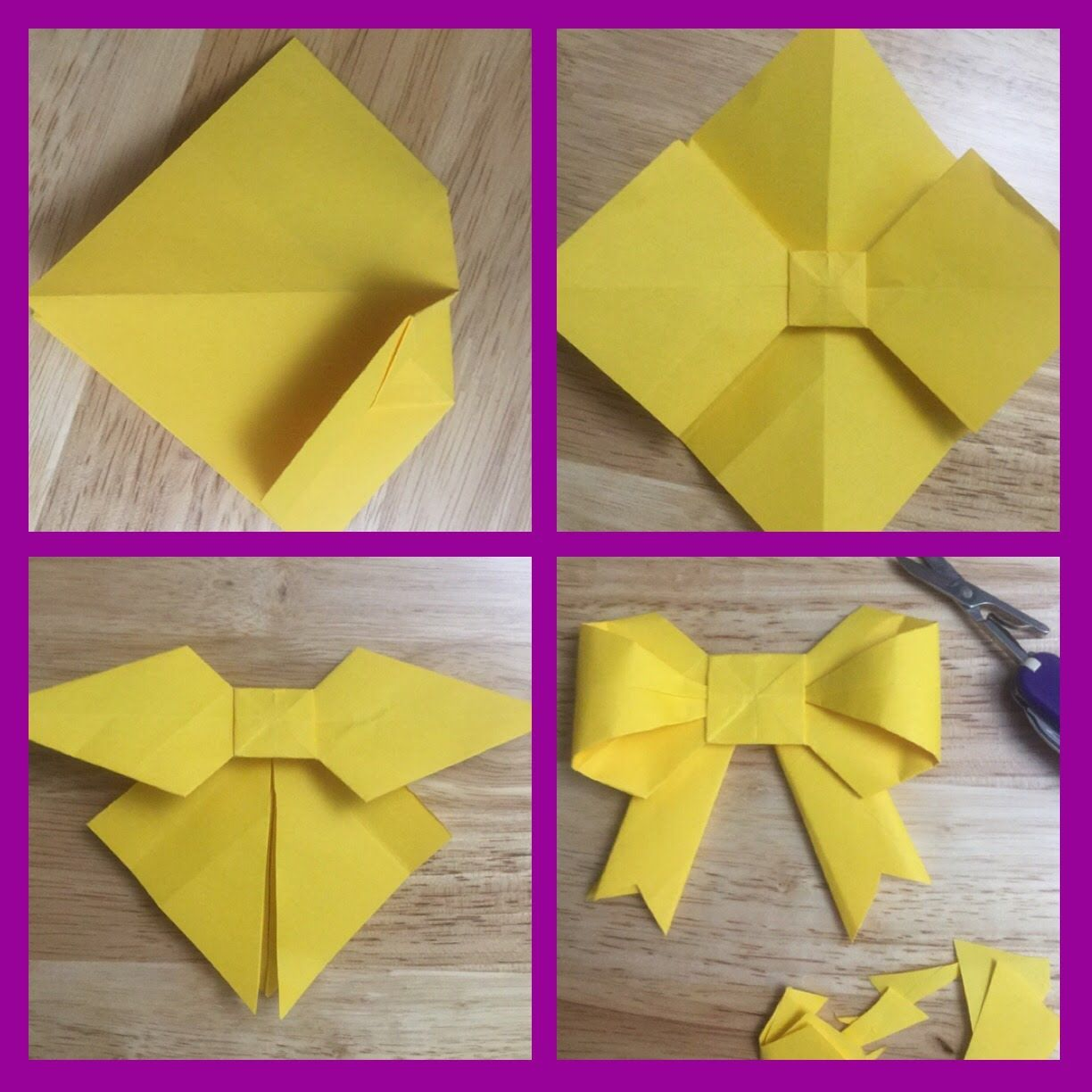 Origami Bows Based On Video By Babebama I Saw On Facebook Diy