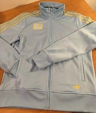 Women's Large Adidas Kazakhstan Track Zip Up Jacket EUC L
