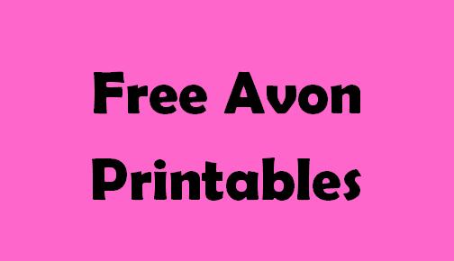 Pin By Sheffield Enterprise On Free Avon Printables Avon