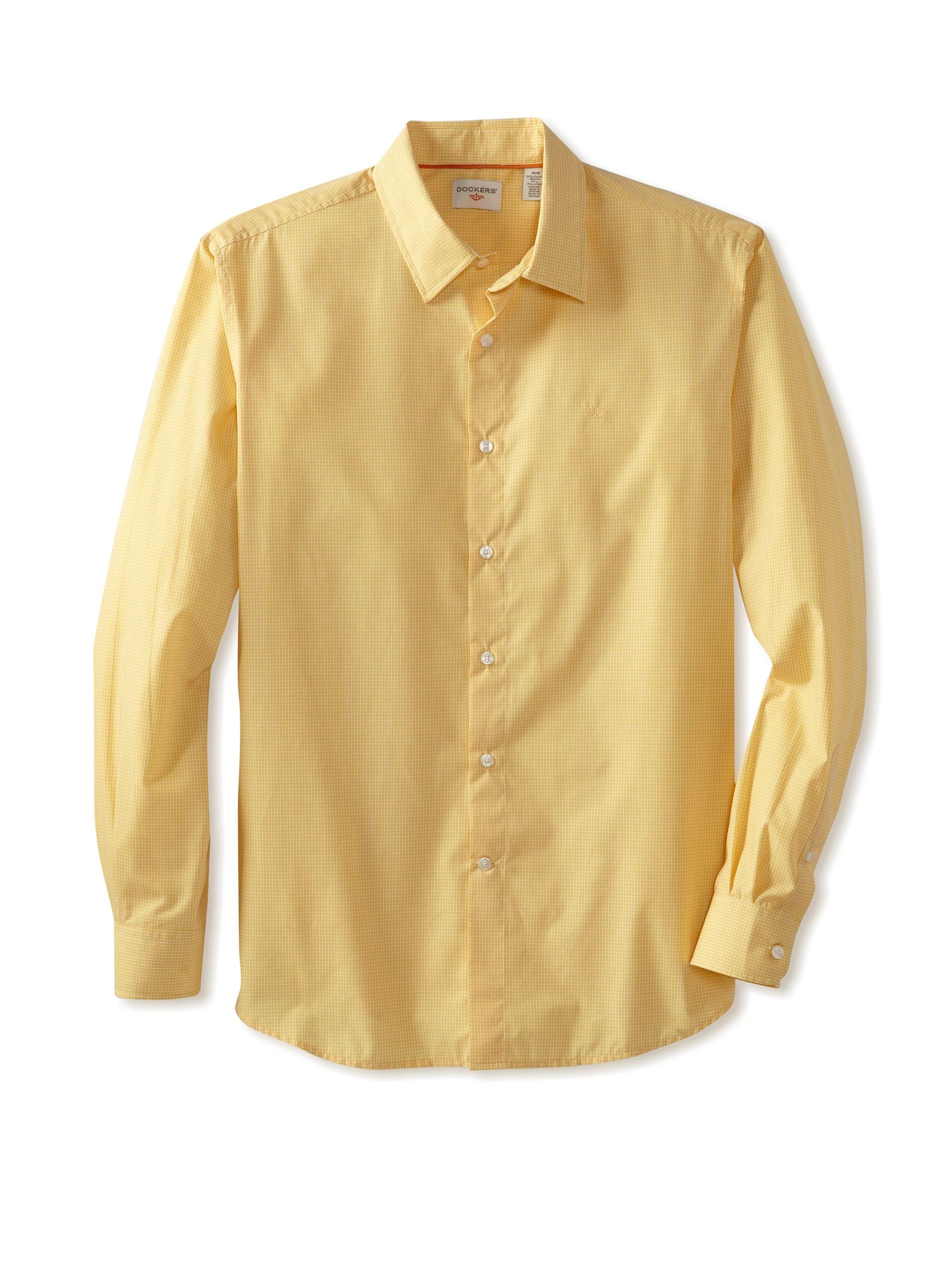 Yellow dress shirt men  Dockers Men  Menus Fashion  Pinterest