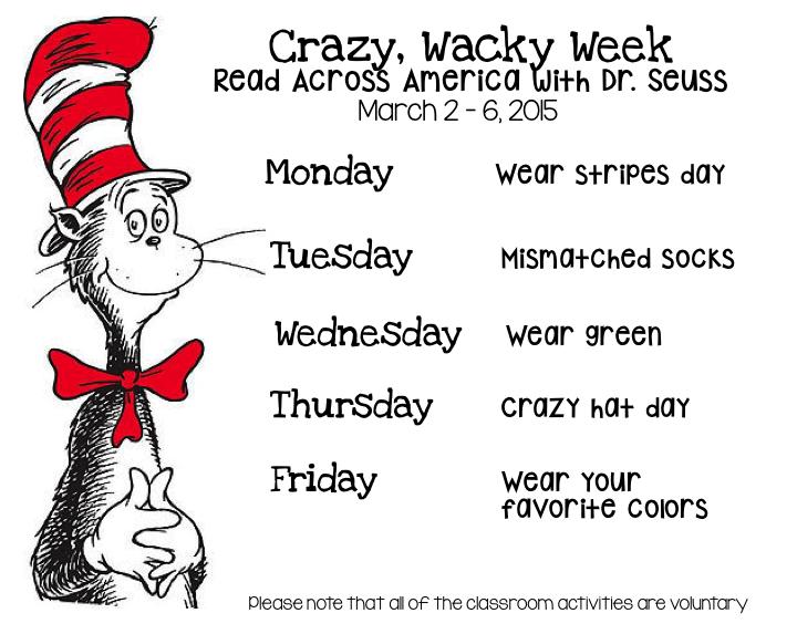 Peek At My Week Dr Seuss Week Dr Seuss Dr Seuss Crafts Dr