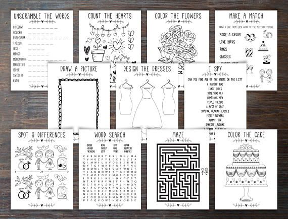 Printable Download Wedding Kids Activity And Coloring Book