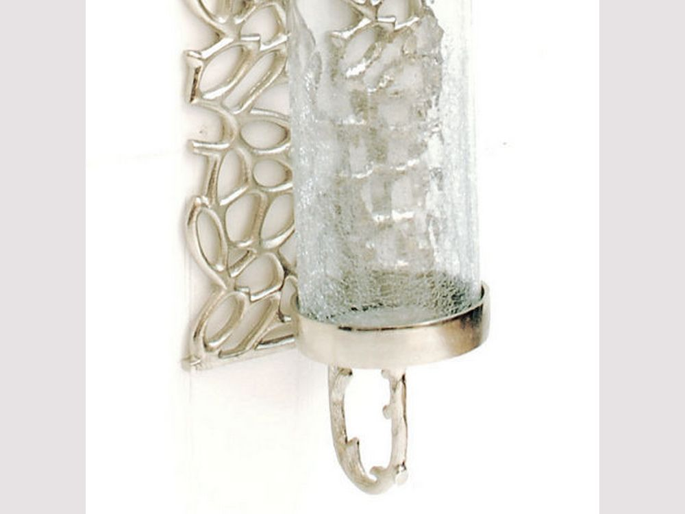Silver Wall Candle Sconce Glass   Candle wall sconces ... on Silver Wall Sconces For Candles id=27416