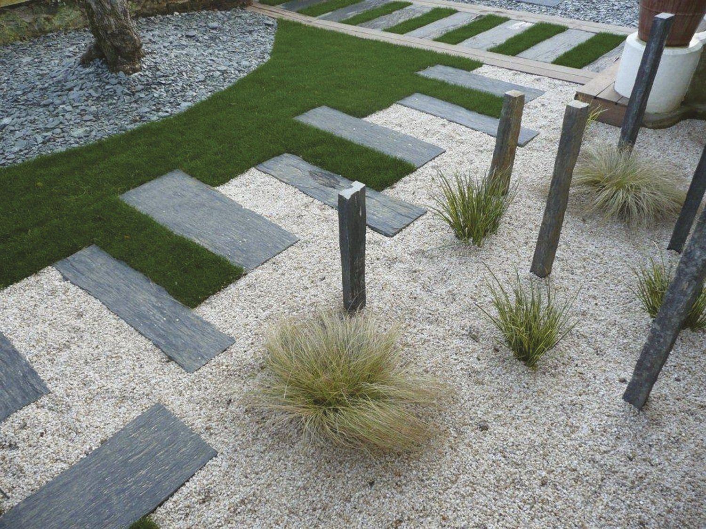 Dalle Schiste Leroy Merlin une composition graphique et magnifique | jardin mineral