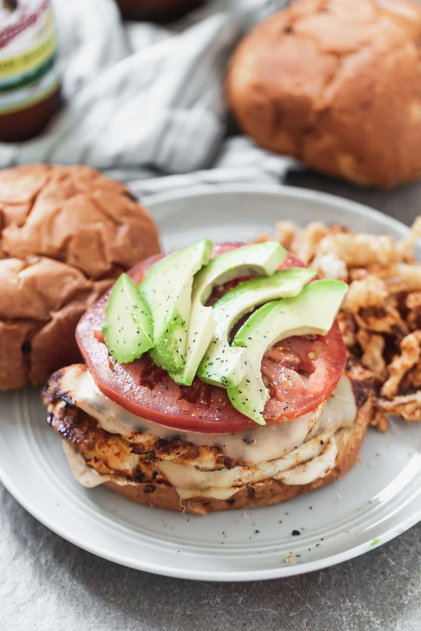Blackened Chicken Sandwiches with Chipotle Mayo and Gouda - Cooking for Keeps