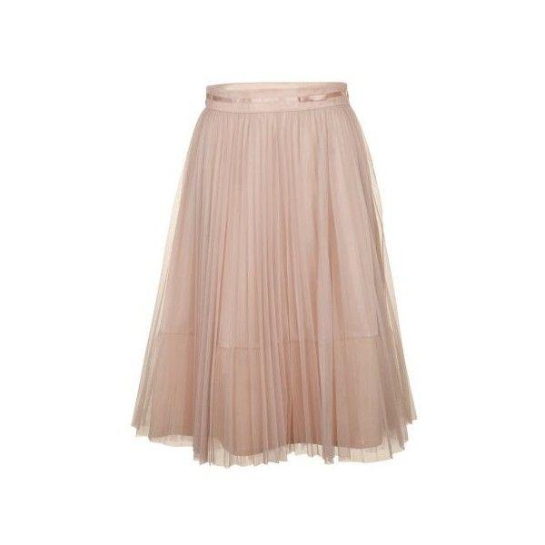 NAF NAF - Jupe ballerine plissée en tulle ($47) ❤ liked on Polyvore featuring skirts, bottoms, gonne, saias, naf naf, tulle skirt and knee length tulle skirt