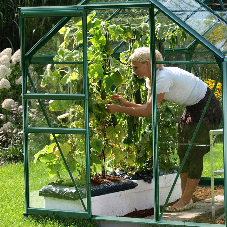 Serre De Jardin En Verre Trempe 788686 3 8 M Lams En 2020 Serre Jardin Entretien Du Jardin Jardins