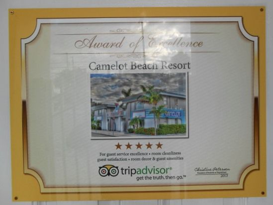 Our first of two Tripadvisor awards for  Guest Service Excellence & Cleanliness