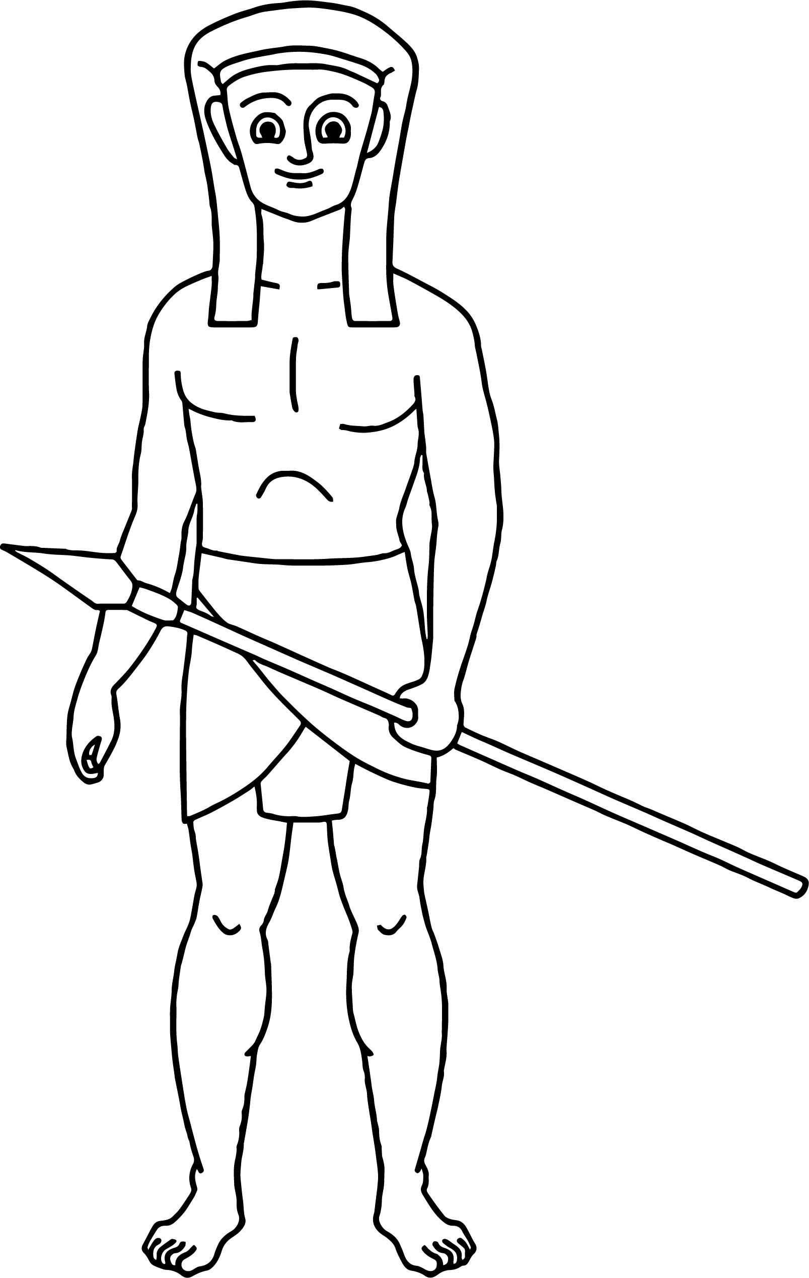 awesome Costume Hunter Ancient Egypt Coloring Page (With