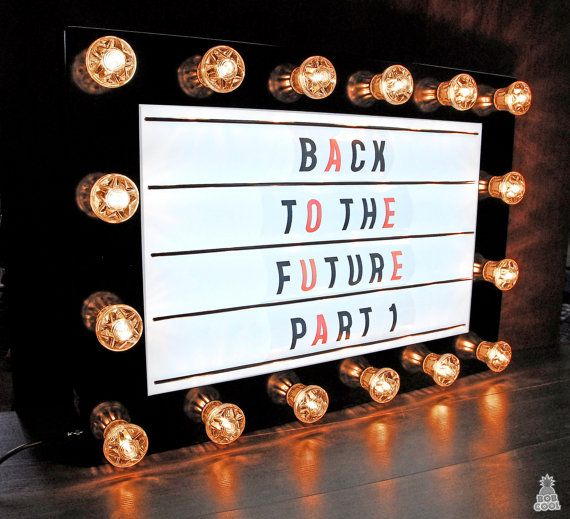 Cool American Style Retro Cinema Light Box With A Interchangeable Letter Pack Made In Great Britain Cinema Decor Light Box Retro