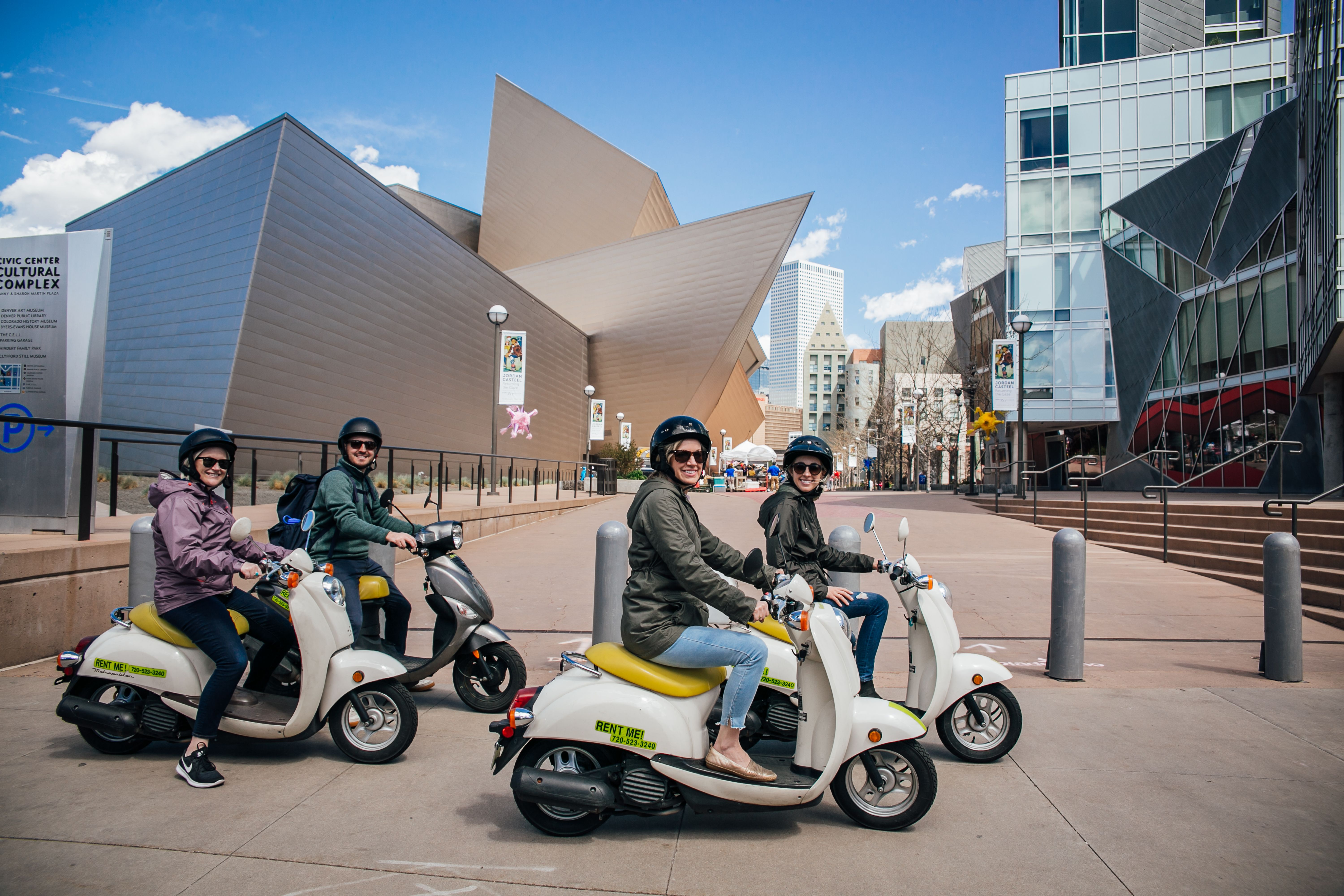 Find the Denver Art Museum when you rent scooters from