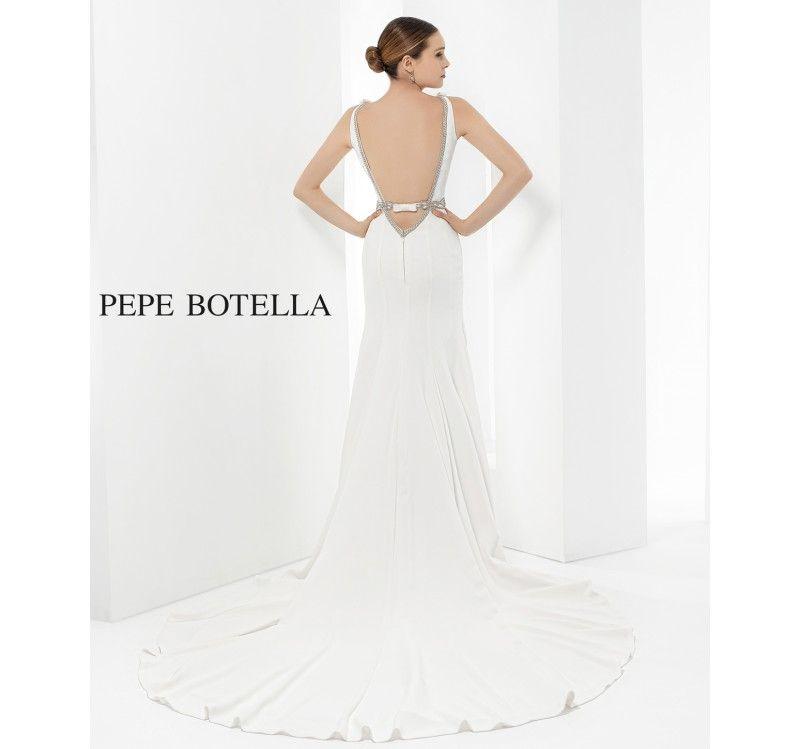 modelo 585 de pepe botella. liquidación muestrario novia. vestido de