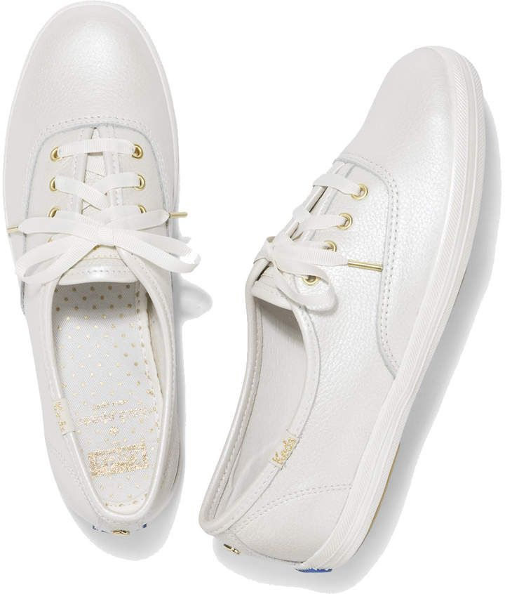 02d200973f5 Keds X kate spade new york CHAMPION PEARL LEATHER